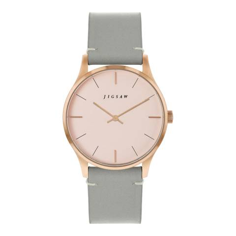 Jigsaw Blush Rose Gold Plated Myddleton Watch 35mm