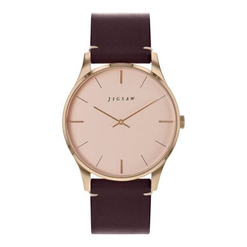 Jigsaw Blush Rose Gold Plated Portman Watch 39mm