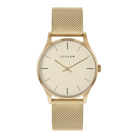 Jigsaw Champagne Gold Plated Myddleton Watch 35mm