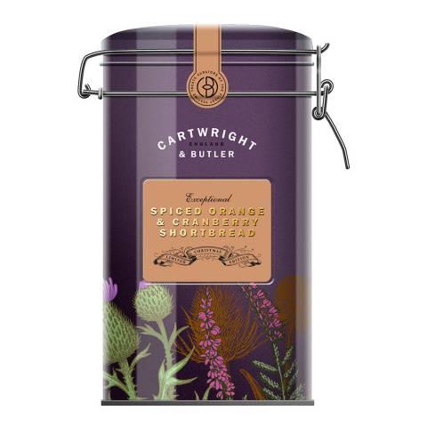 Cartwright & Butler Season's Pick Spiced Orange & Cranberry Shortbread Tin