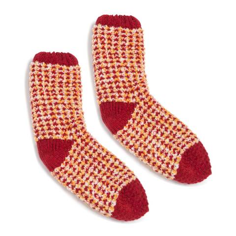 Wild Feet Red Chunky Knit 2 Pack Socks