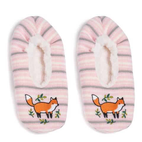 Wild Feet Pink Fox Slippers