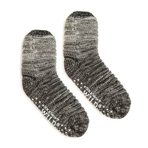 Wild Feet White Ombre Chunky Knit Socks