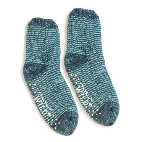 Wild Feet Navy Chunky Knit Socks