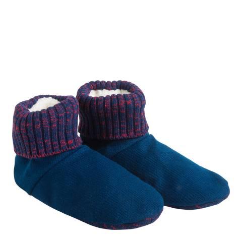 Wild Feet Blue/Red Bootie Slipper Bootie