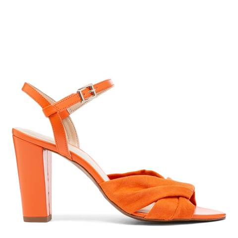 Karen Millen Orange Suede Part Sandal