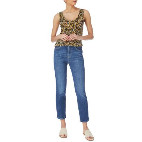 Karen Millen Indigo Ultimate Straight Stretch Jeans