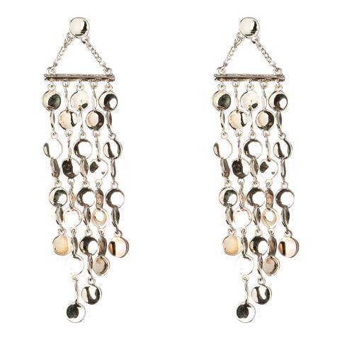 Karen Millen Silver Cascade Drop Earrings