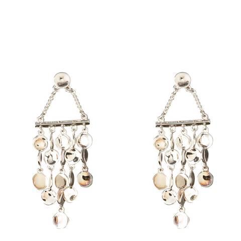 Karen Millen Silver Small Cascade Drop Earrings