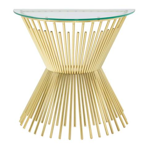 Serene Furnishings Trinity Gold Console Table