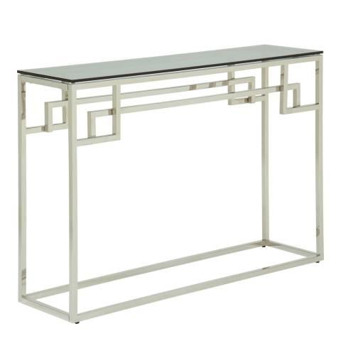 Serene Eden Silver Console Table