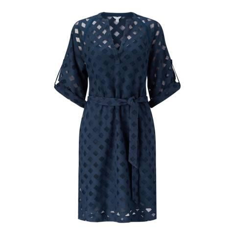 Jigsaw Navy Lace Weave Dress