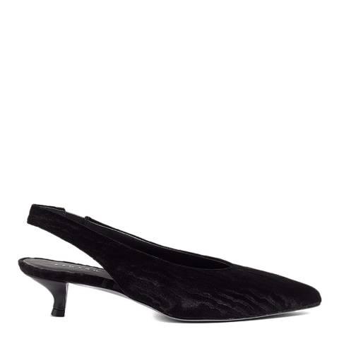 Jigsaw Black Loren Slingback Heels