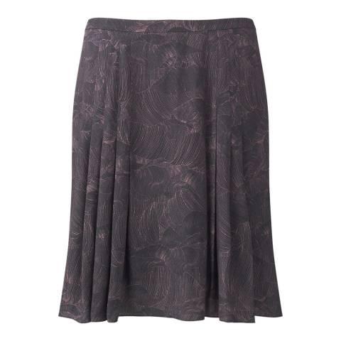 Jigsaw Brown Pleated Petal Skirt