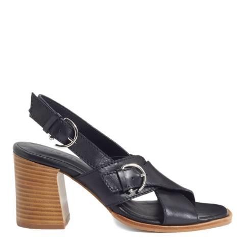Jigsaw Black Bretta Buckle Heeled Sandals