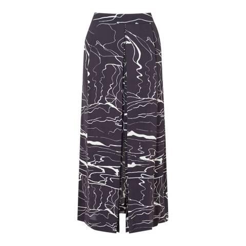 Jigsaw Grey Waterpool Pleat Skirt