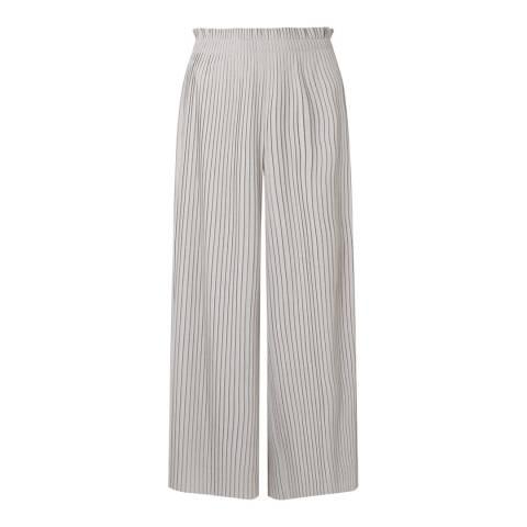 Jigsaw Grey Engineered Pleat Trousers