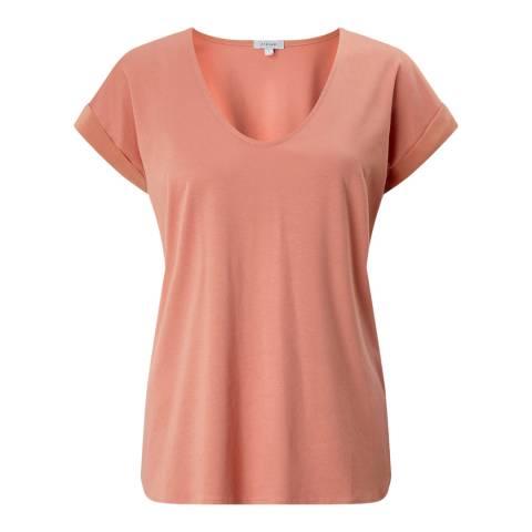 Jigsaw Coral Roll Sleeve T-Shirt