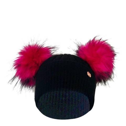 Look Like Cool Black Cashmere Beanie Hat