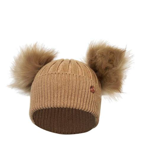 Look Like Cool Camel Luxe Cashmere Beanie Hat