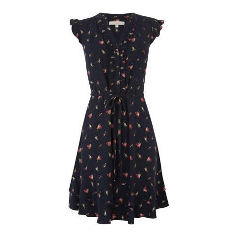 Oasis Blue Rose Bud Skater Dress