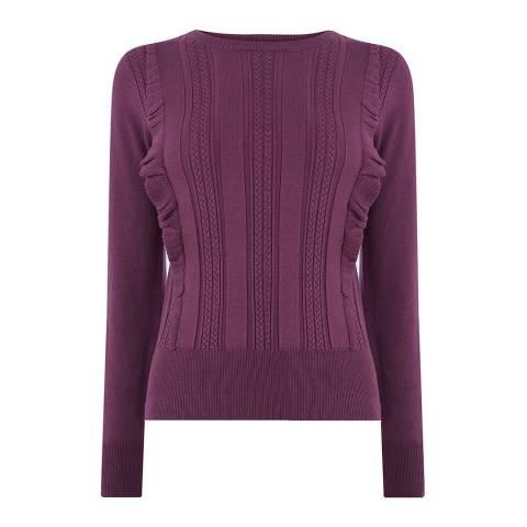 Oasis Purple Francesca Frills Jumper