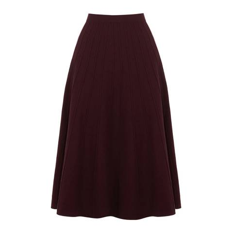 Oasis Berry Petra Pleated Skirt