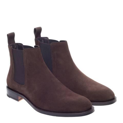 John White Brown Harrington Chelsea Boots