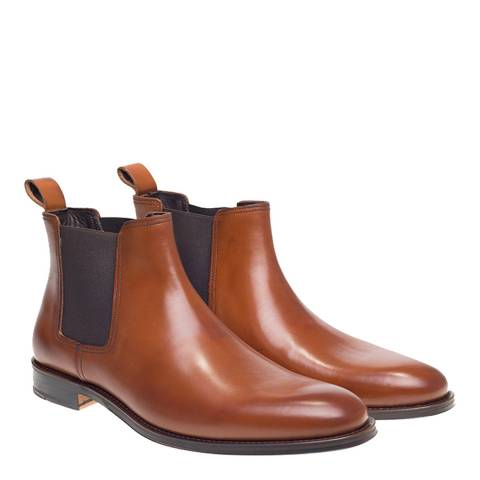 John White Tan Stables Chelsea Boot