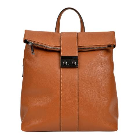 Isabella Rhea Cognac Leather Backpack