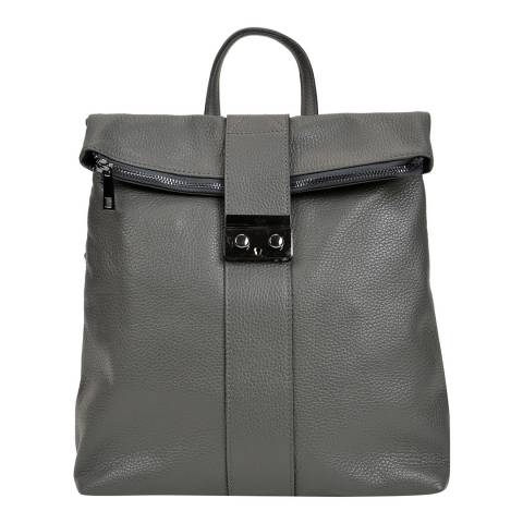 Isabella Rhea Grey Leather Backpack