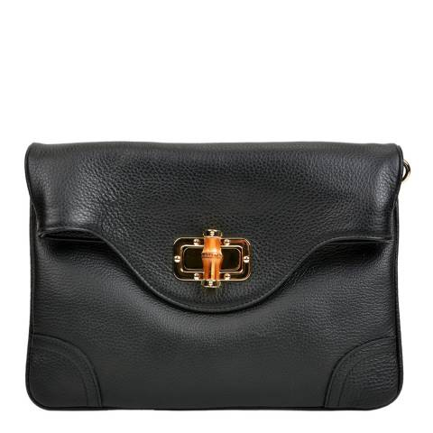 Isabella Rhea Black Leather Crossbody Bag / Clutch
