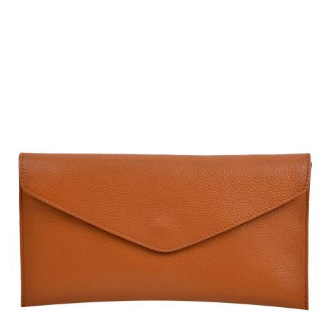 Isabella Rhea Cognac Leather Clutch
