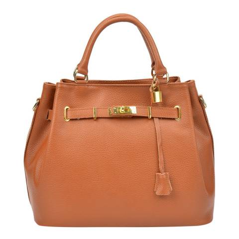 Isabella Rhea Cognac Leather Handbag