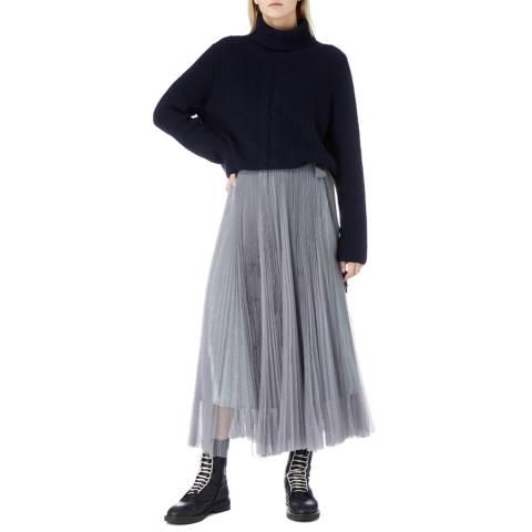 I.T.D Grey Pleat Tulle Skirt