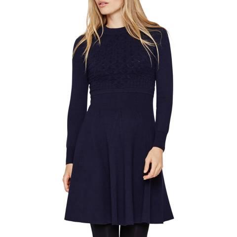 Damsel In A Dress Karter Knit Dress Navy
