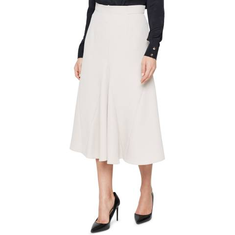 Damsel In A Dress Neutral Ebony Tailored Skirt