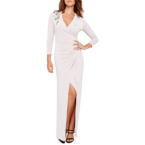 Damsel In A Dress Samia Slinky Maxi Silver