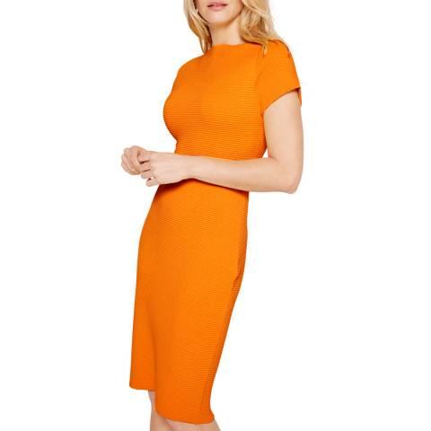 Damsel In A Dress Orange Mandy Ripple Dress