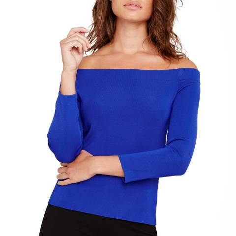 Damsel In A Dress Jura Bardot Knit Cobalt