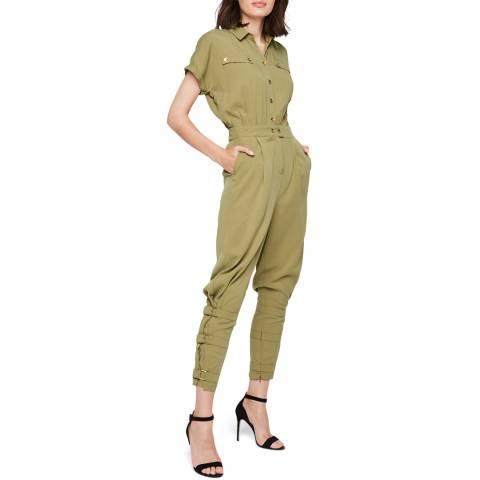 Damsel In A Dress Khaki Violia Jumpsuit