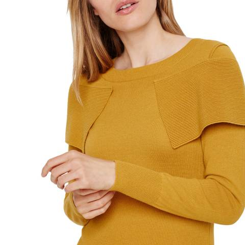 Damsel In A Dress Mustard Agnes Fold Over Jumper