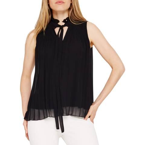 Damsel In A Dress Black Mona Pleat Blouse