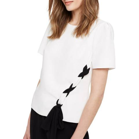 Damsel In A Dress Ivory/Black Ciana Blouse
