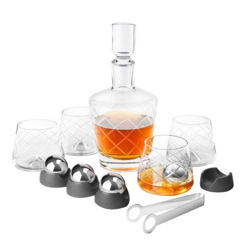 Summer Barware Final Touch Crystal Whisky Decanter Set 15pce set