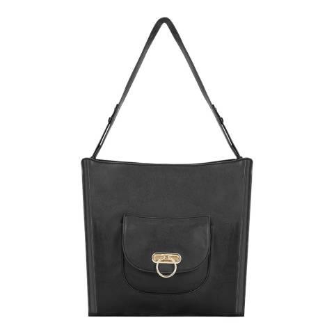 Paul Costelloe Black Oglio Leather Slouch Bag