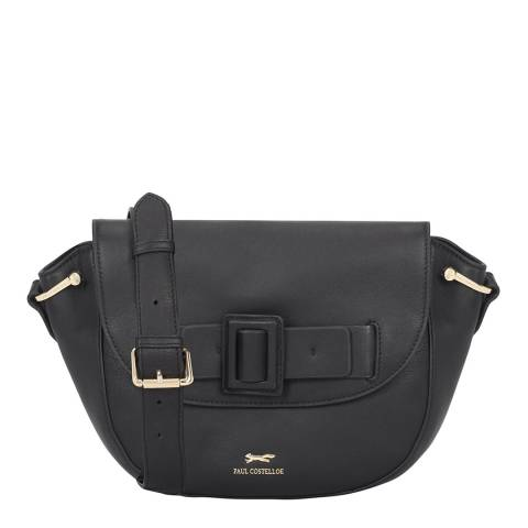 Paul Costelloe Black Secchia Leather Cross Body Bag