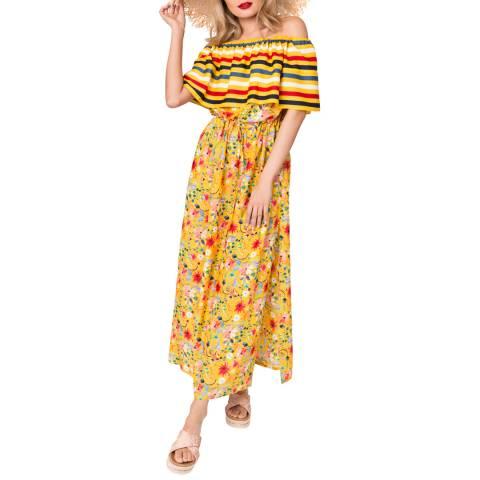 Pia Rossini Yellow Saffron Maxi Dress