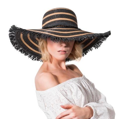 Pia Rossini Black/Tan Mykonos Hat