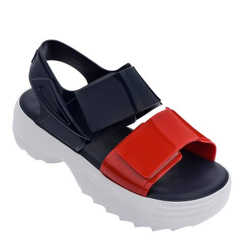 Melissa + FILA Navy Fila Contrast Sandals